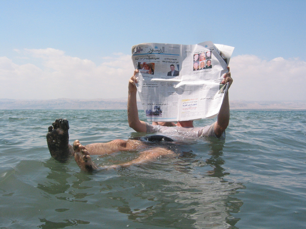 Floating Dead Sea photo