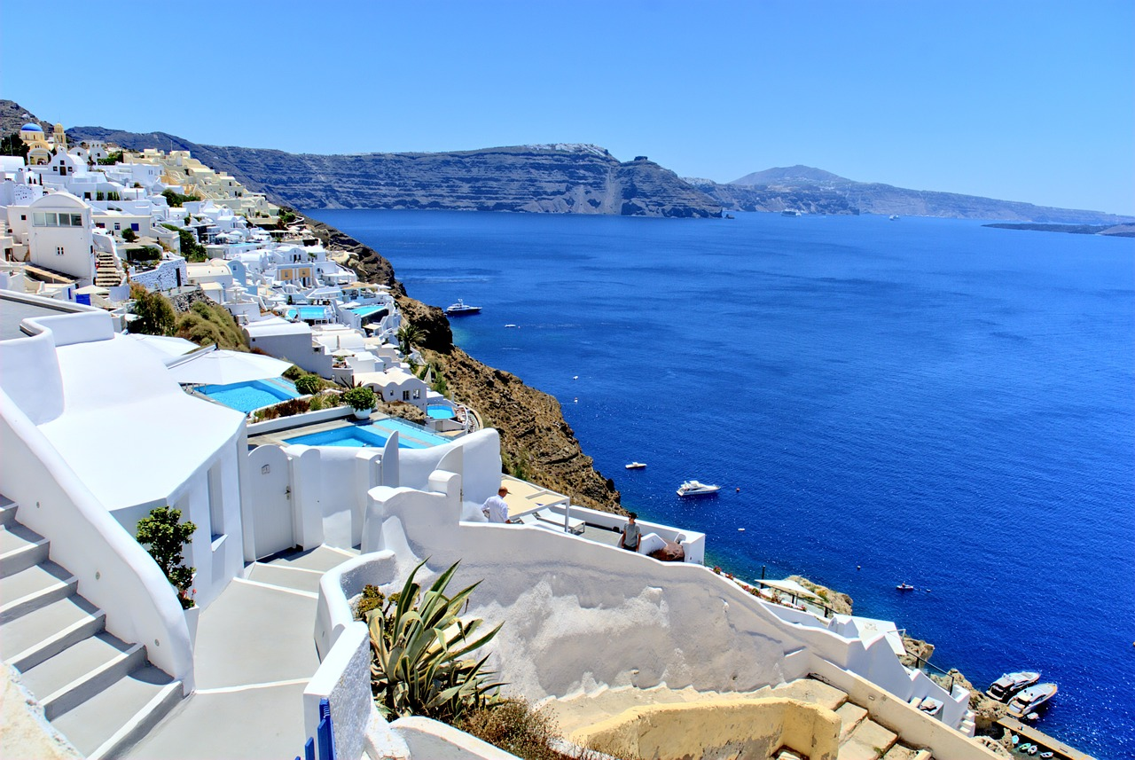 Santorini, one of the top tourist attractions in Greece