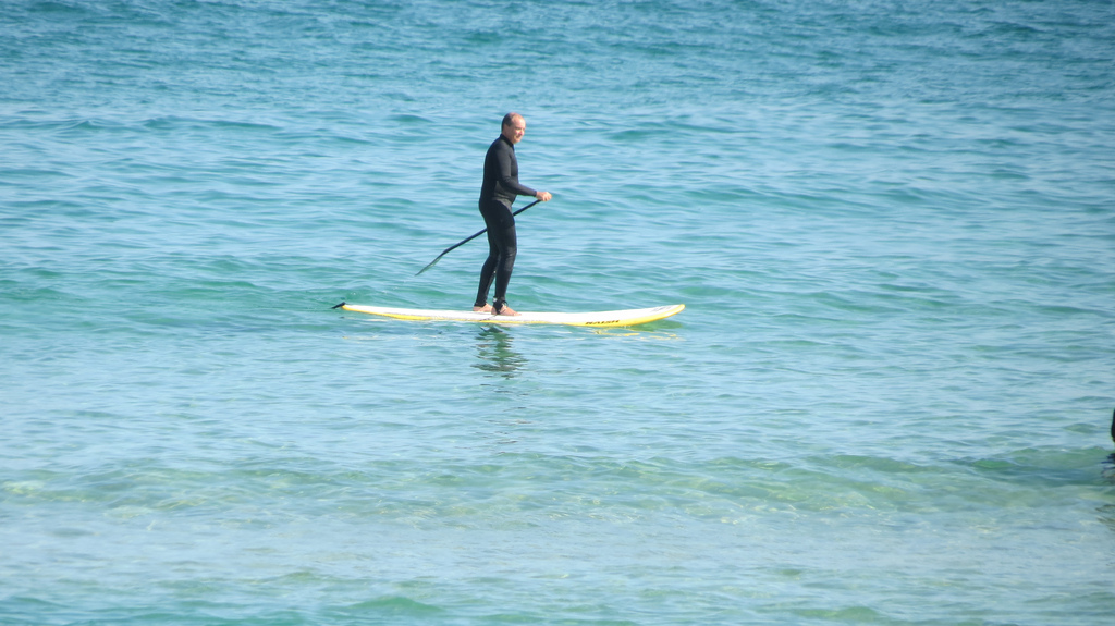surfing in bondi beach photo