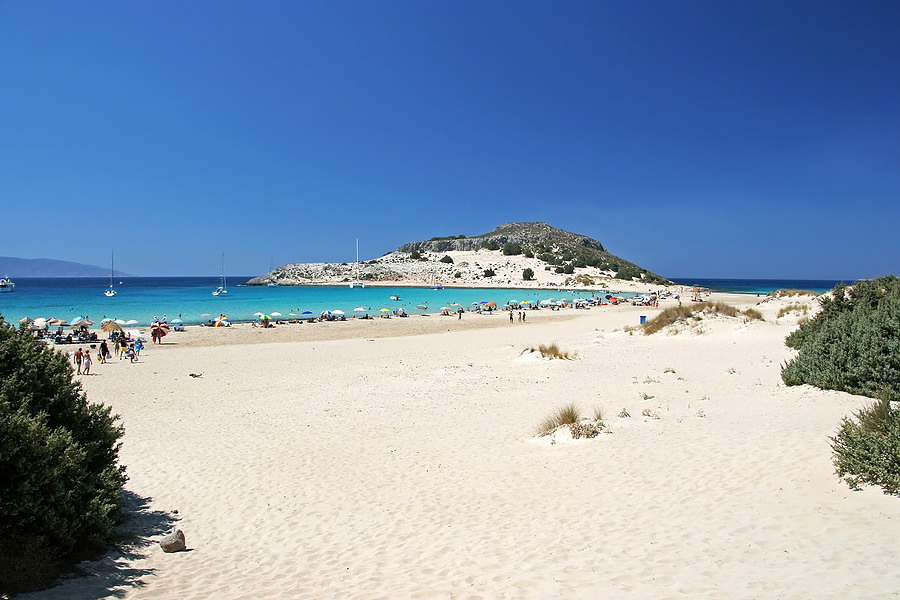 Simos beach photo best beaches in greece