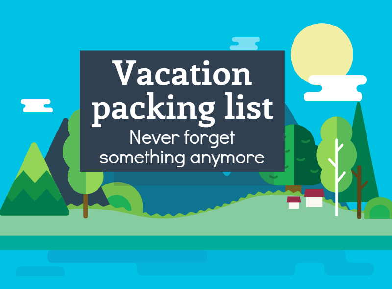 infographic vacation packing list
